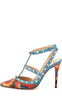 Кожаные туфли Enchinated Wonderland с принтом Valentino