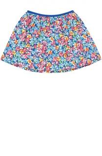 Хлопковая юбка с цветочным принтом Polo Ralph Lauren