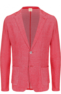 Хлопковый однобортный пиджак Sartoria Latorre