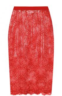 Кружевная полупрозрачная юбка-карандаш Maison Margiela