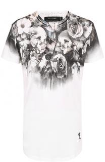 удлиненная хлопковая футболка с принтом Religion