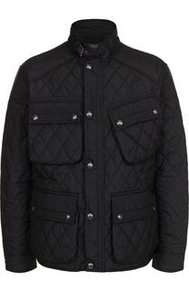 Стеганая куртка на молнии с воротником-стойкой Polo Ralph Lauren