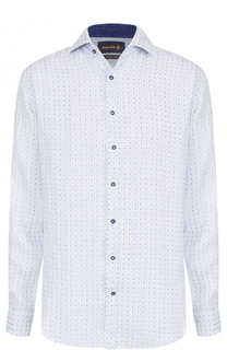 Льняная рубашка с принтом Jacques Britt