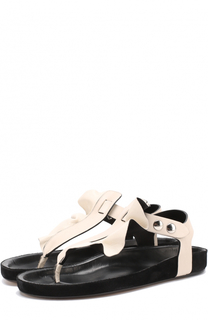Кожаные сандалии с оборкой Isabel Marant