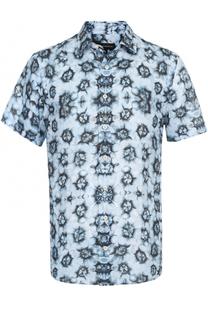 Льняная рубашка с короткими рукавами Baldessarini