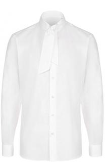 Хлопковая рубашка с воротником-галстуком Caruso