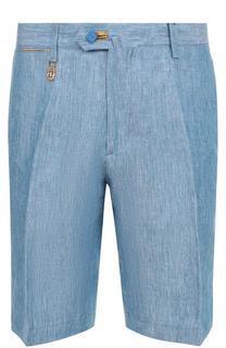 Льняные шорты с контрастной отделкой Billionaire