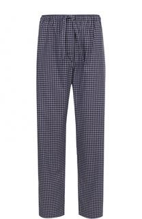 Хлопковые домашние брюки свободного кроя Derek Rose