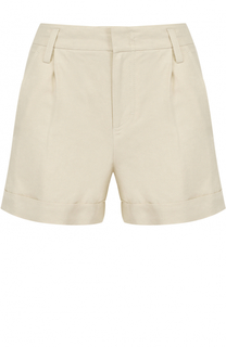 Мини-шорты с карманами и защипами Vince