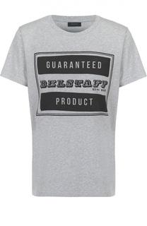 Хлопковая футболка с контрастным принтом Belstaff
