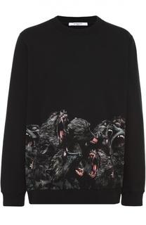 Хлопковый свитшот с принтом Givenchy