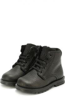 Кожаные ботинки на шнуровке Dolce & Gabbana