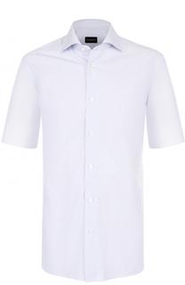 Хлопковая сорочка с короткими рукавами Ermenegildo Zegna