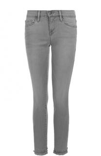 Укороченные джинсы-скинни с бахромой Frame Denim