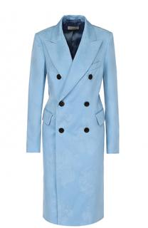 Двубортное пальто с широкими лацканами Dries Van Noten