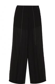 Полупрозрачные брюки прямого кроя DKNY