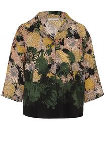 Шелковая блуза с цветочным принтом Dries Van Noten