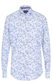 Хлопковая рубашка с принтом Jacques Britt