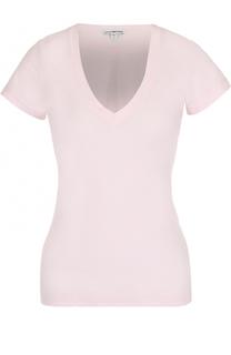 Приталенная футболка с V-образным вырезом James Perse
