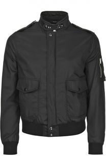 Хлопковая куртка-бомбер с накладными карманами Tom Ford