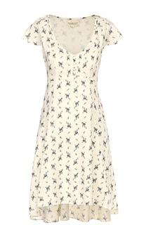 Приталенное асимметричное платье с цветочным принтом Denim&Supply by Ralph Lauren