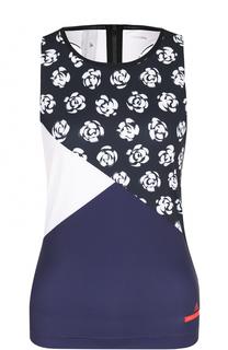 Спортивный топ с цветочным принтом Adidas by Stella McCartney