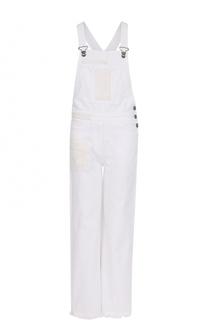 Джинсовый комбинезон с декоративной вышивкой Valentino