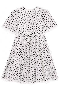 Шелковое платье в горох Dolce & Gabbana