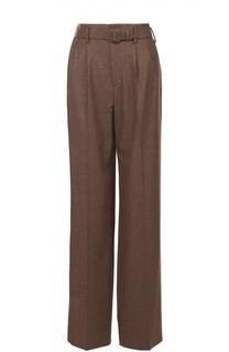 Широкие брюки с завышенной талией и поясом Ralph Lauren