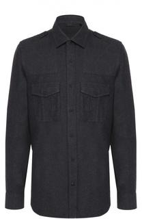 Хлопковая рубашка с накладными карманами и погонами Belstaff