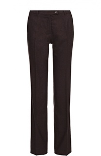 Шерстяные брюки прямого кроя со стрелками Colombo