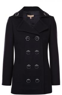 Укороченное двубортное пальто с декорированными пуговицами Michael Kors