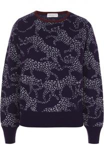 Кашемировый пуловер с манжетами и звериным принтом Dries Van Noten