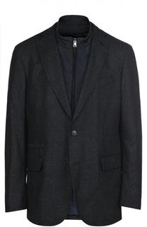 Однобортный пиджак из смеси шерсти и шелка с подстежкой Pal Zileri