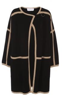 Пальто свободного кроя с контрастной отделкой Chloé