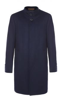 Пальто из смеси шерсти и кашемира с воротником-стойкой Baldessarini
