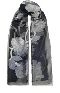 Шарф с цветочным принтом Armani Collezioni