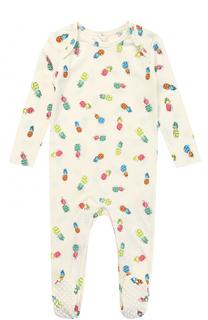 Хлопковая пижама с принтом Stella McCartney