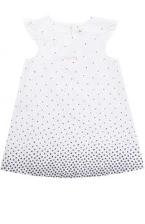 Хлопковое платье свободного кроя с принтом Sanetta Fiftyseven