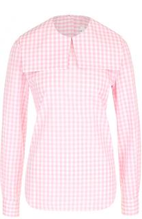 Хлопковая блуза с воротником-матроской Comme des Garcons GIRL