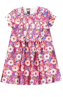 Платье свободного кроя с ярким принтом Oscar de la Renta