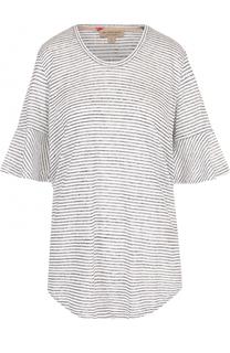 Льняная футболка в полоску Burberry