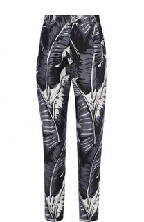 Шелковые брюки с принтом Dolce & Gabbana