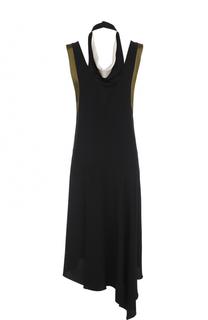 Платье асимметричного кроя без рукавов Lanvin