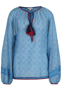 Блуза с принтом и контрастной отделкой Talitha