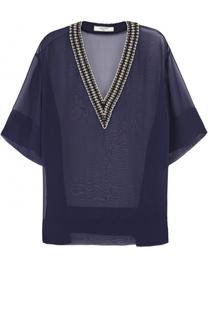 Полупрозрачная блуза с декорированным вырезом Lanvin