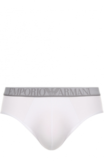 Брифы из вискозы с логотипом бренда Emporio Armani