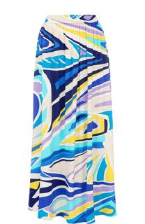Юбка с ярким принтом и эластичным поясом Emilio Pucci