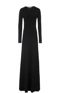 Кашемировое платье-макси с длинным рукавом Ralph Lauren