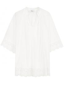 Блуза свободного кроя с кружевной отделкой Blugirl